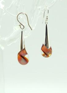 amber-pink-droplet-earrings