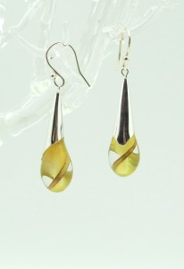 Yellow Droplet Earrings