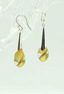 Yellow Droplet Earrings